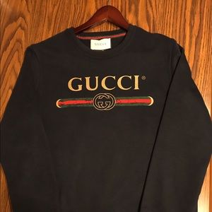 Mens Authentic Black Gucci Sweater Large
